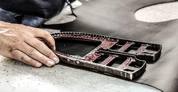 L'atelier de fabrication de chaussures casual, Portugal (São João)