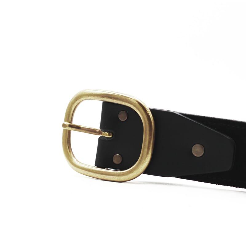 vue boucle ceinture vintage cuir daim noir jules & jenn