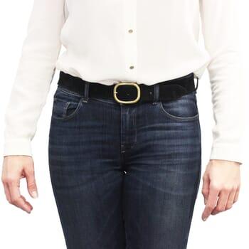 vue portée ceinture vintage cuir daim noir jules & jenn
