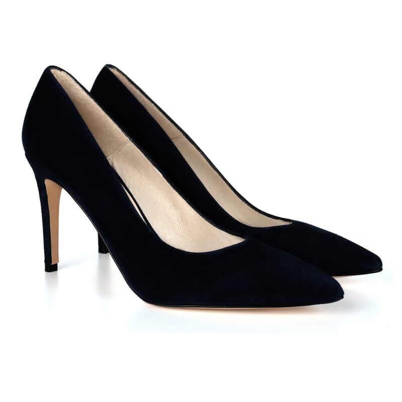 escarpins classiques cuir daim noir