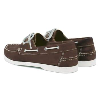 vue arrière chaussures bateau cuir marron jules & jenn