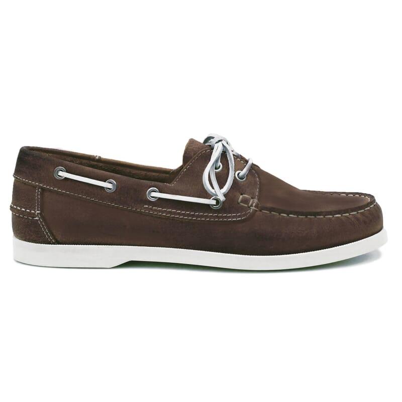 vue extérieure chaussures bateau cuir marron jules & jenn