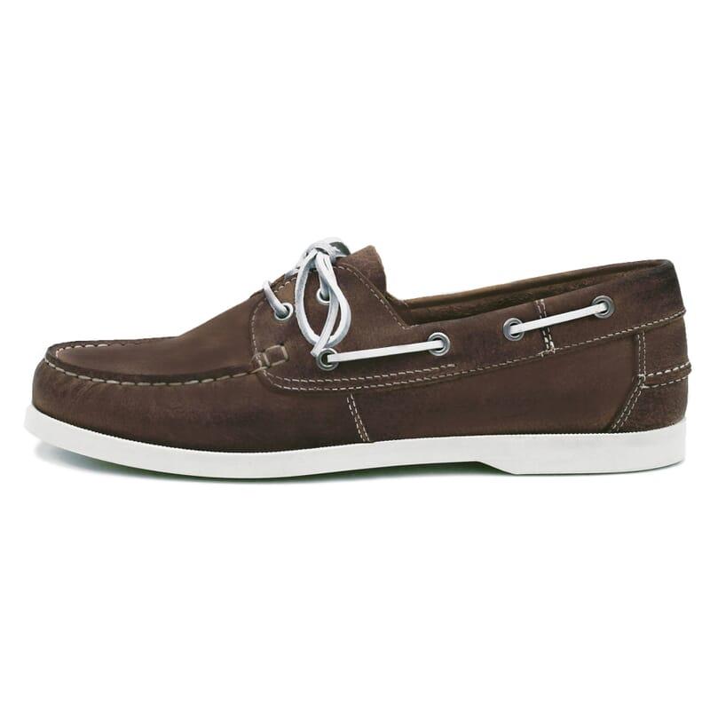 vue intérieure chaussures bateau cuir marron jules & jenn