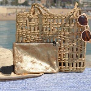 ochette cuir doré métallisé moyen modèle jules&jenn