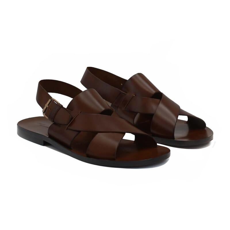 sandales homme cuir marron jules & jenn