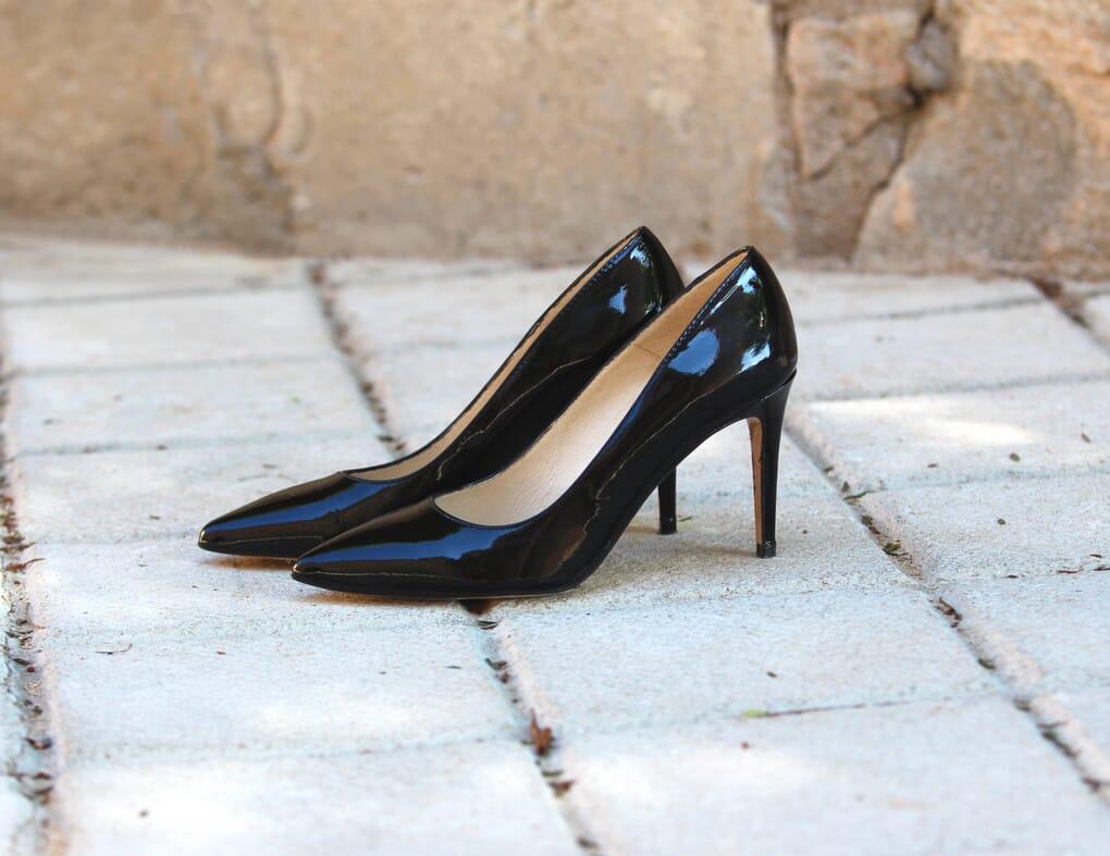escarpins cuir noir verni jules & jenn