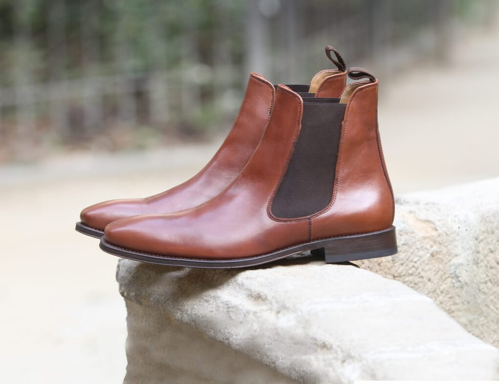 chelsea boots cuir marron cognac jules & jenn