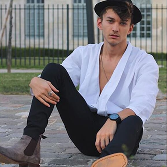 ashdimoni - chelsea boots cuir daim gris
