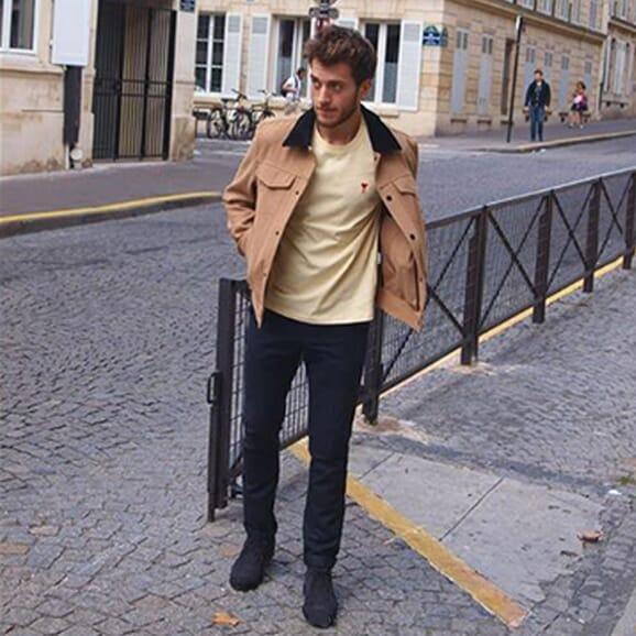 th.louis - desert boots cuir daim bleu