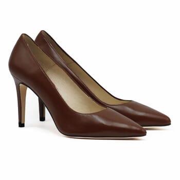 escarpins classiques cuir marron jules & jenn