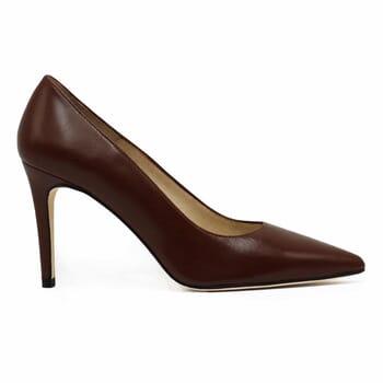 vue exterieur escarpins classiques cuir marron jules & jenn