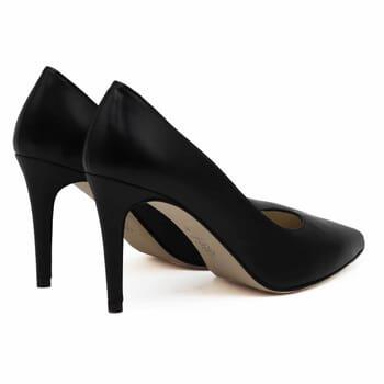vue arriere escarpins classiques cuir noir jules & jenn