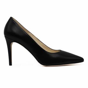 vue exterieur escarpins classiques cuir noir jules & jenn