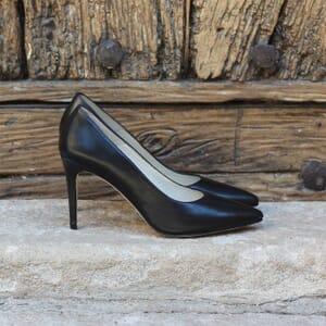 escarpin jules et jenn cuir noir exterieur
