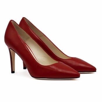 escarpins classiques cuir rouge jules & jenn