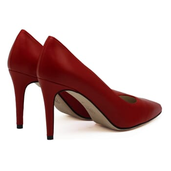 vue arriere escarpins classiques cuir rouge jules & jenn