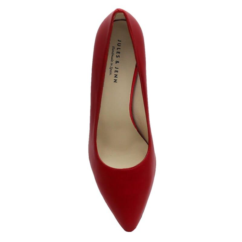 vue dessus escarpins classiques cuir rouge jules & jenn