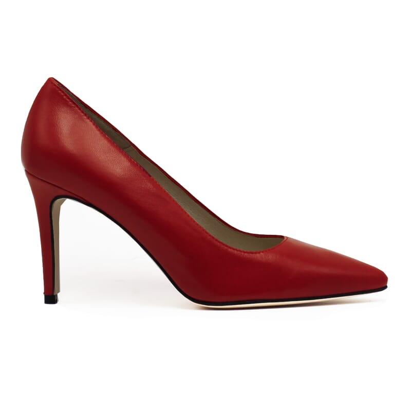 vue exterieur escarpins classiques cuir rouge jules & jenn