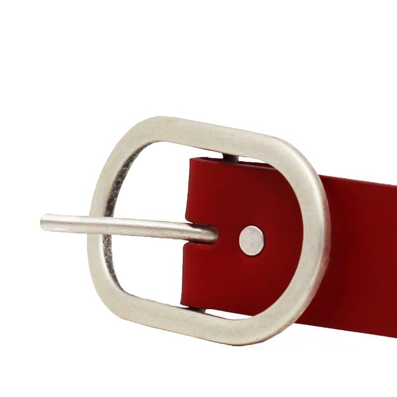 boucle ceinture large intemporelle femme cuir rouge
