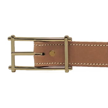 boucle ceinture mademoiselle cuir beige fabriquee en France