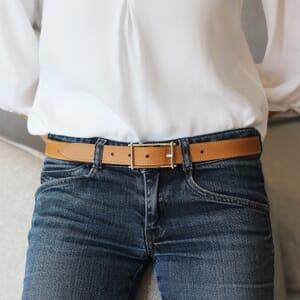 vue portee de ceinture mademoiselle cuir beige