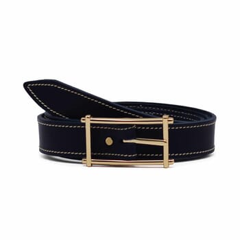 ceinture bleu cuir mademoiselle