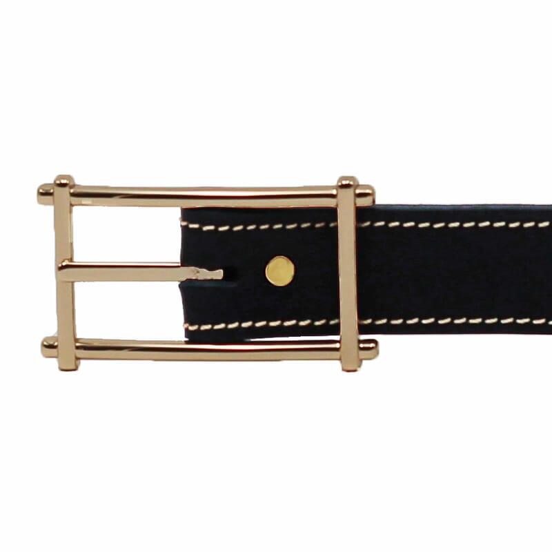 boucle ceinture bleu cuir mademoiselle