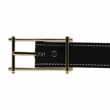 boucle ceinture noir cuir mademoiselle