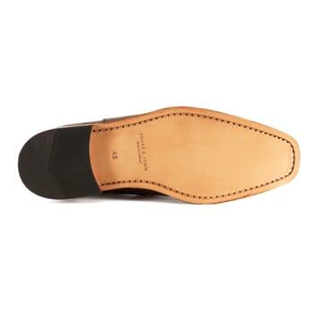 semelle chelsea boots cuir lisse cognac et bleu jules & jenn