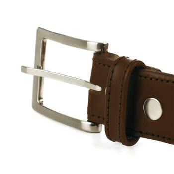 vue boucle ceinture classique cuir marron jules & jenn