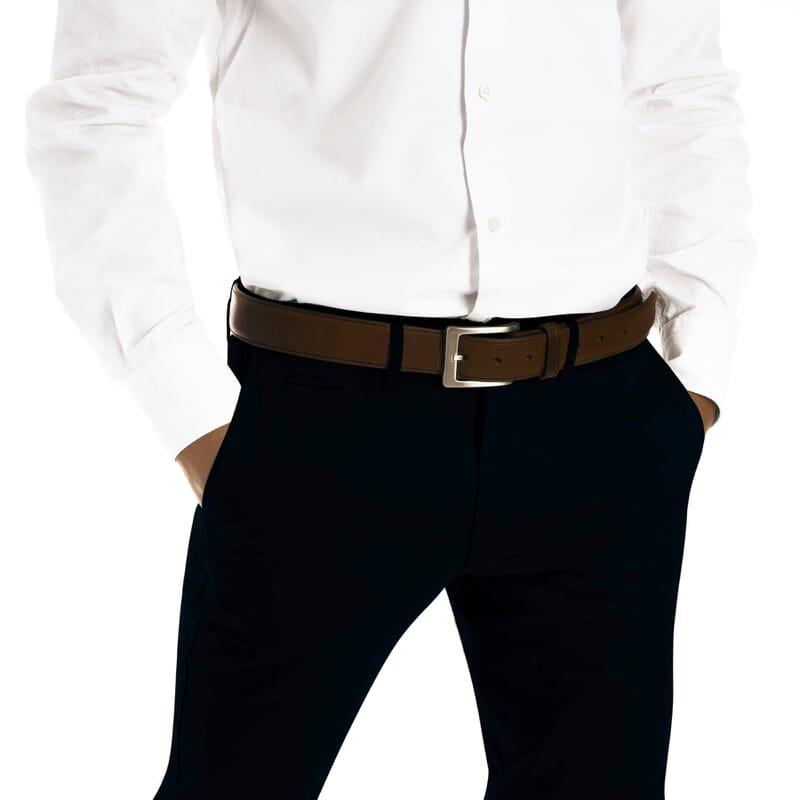 vue portée ceinture classique cuir marron jules & jenn