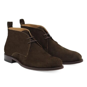 desert boots cuir daim vert kaki Jules & Jenn