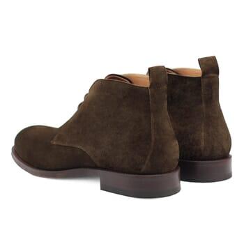 vue arriere desert boots cuir daim vert kaki Jules & Jenn