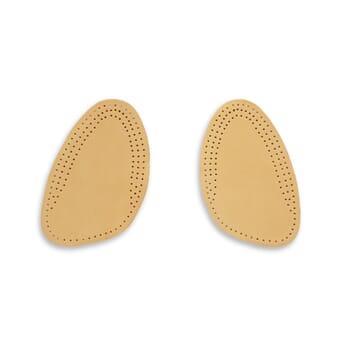 Vue avant demi-semelles en cuir JULES & JENN