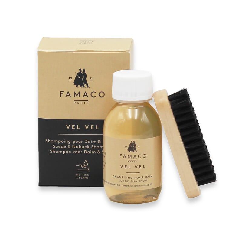 Vue ouverte shampoing cuir daim Famaco JULES & JENN