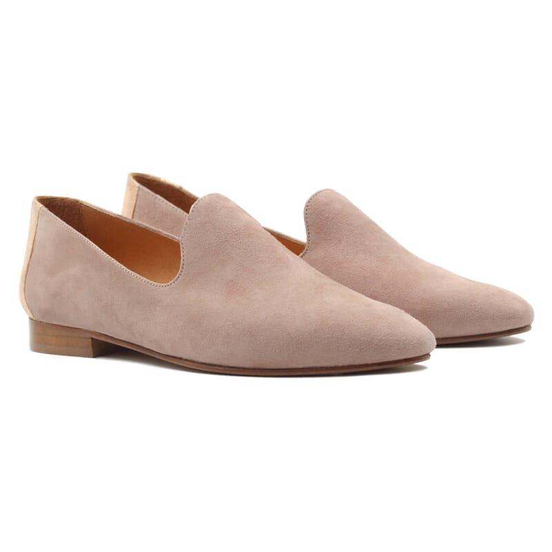 slippers classiques cuir velours rose jules & jenn