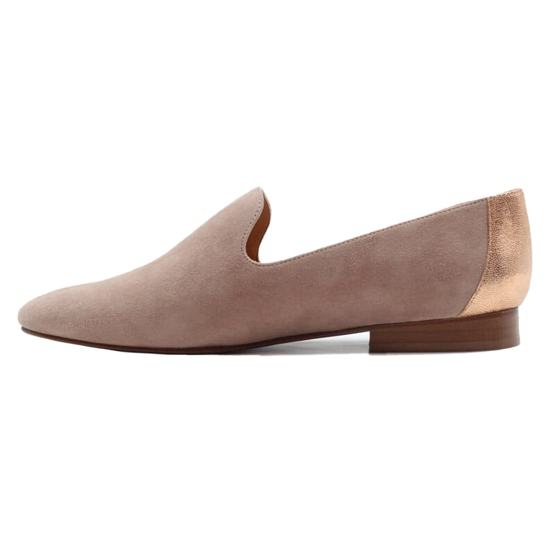vue interieur slippers classiques cuir velours rose jules & jenn