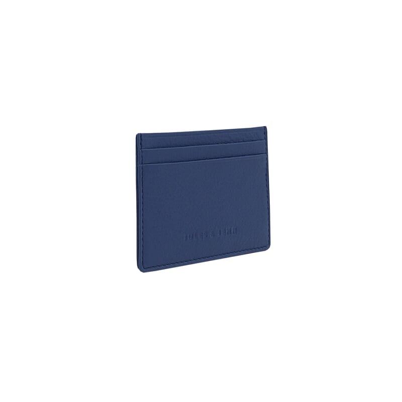 vue debout du porte-carte cuir bleu jules & jenn