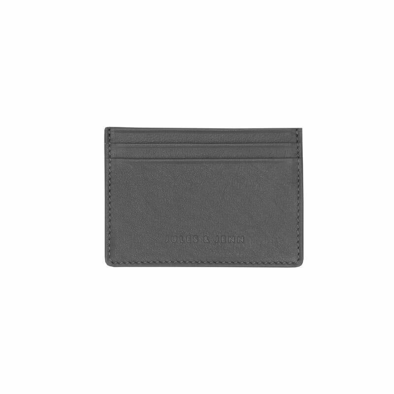 porte-cartes en cuir gris jules & jenn