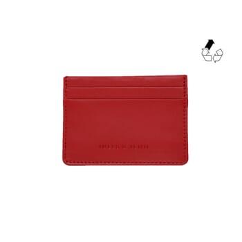 Porte-cartes cuir upcyclé rouge JULES & JENN
