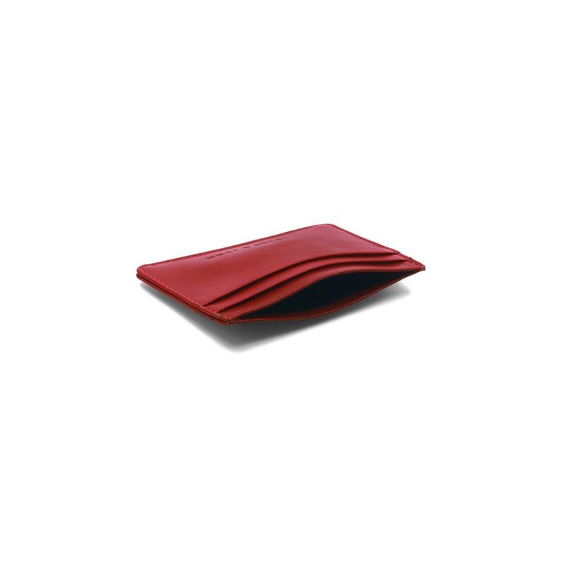 vue intérieur porte-cartes cuir upcyclé rouge JULES & JENN