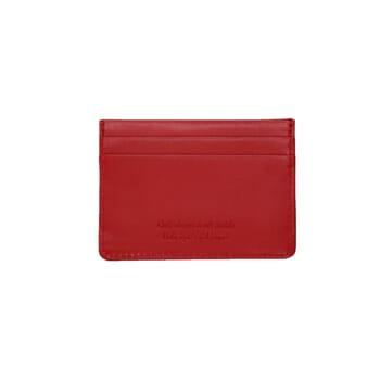 vue arrière porte-cartes cuir upcyclé rouge JULES & JENN