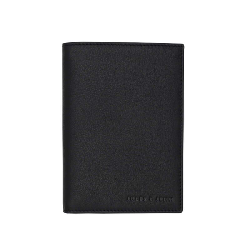 portefeuille classique cuir noir jules & jenn