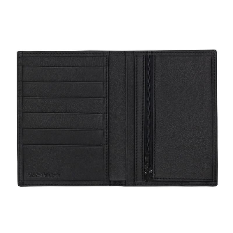 vue interieure du portefeuille classique cuir noir jules & jenn