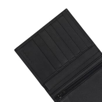gros plan portefeuille classique noir fabrique en France