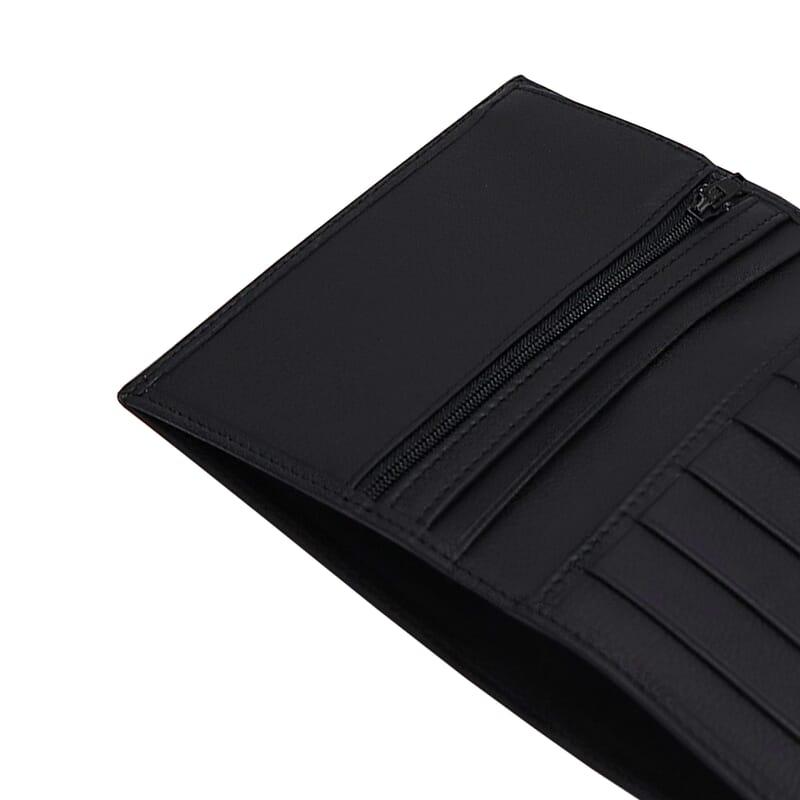 gros plan portefeuille classique cuir noir jules & jenn