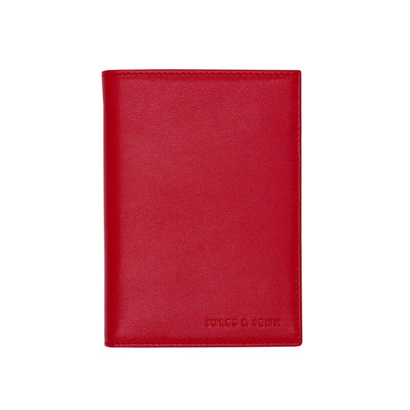portefeuille classique cuir rouge jules & jenn