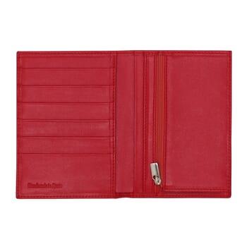 vue ouvert portefeuille classique cuir rouge jules & jenn