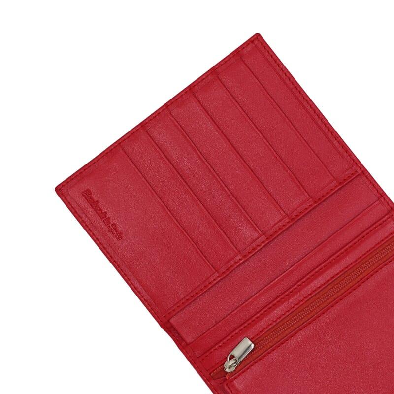 gros plan portefeuille classique cuir rougejules & jenn