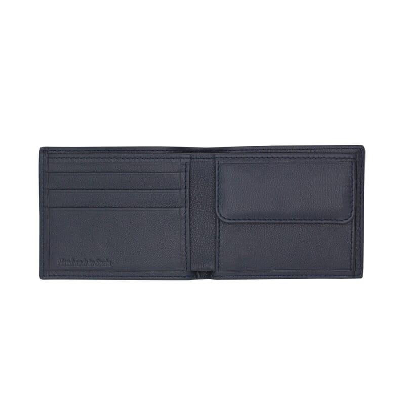 vue interieure du portefeuille essentiel cuir bleu jules & jenn
